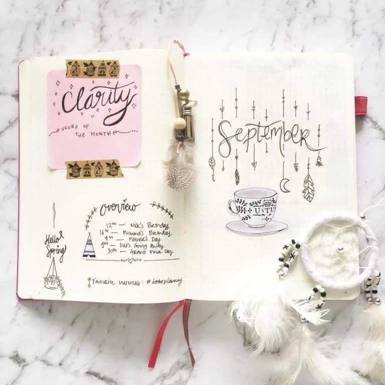 25 de idei cu dream catchers pentru bullet journal