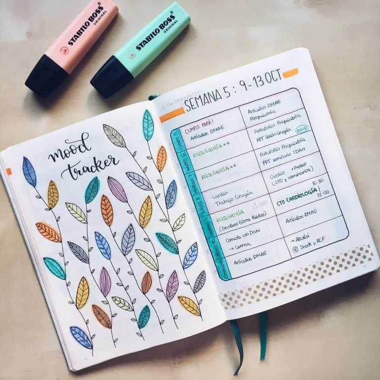 Ce este un mood tracker pentru bullet journal (+19 idei care să te inspire)