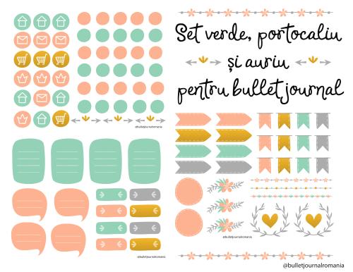 Set stickere bullet journal #2