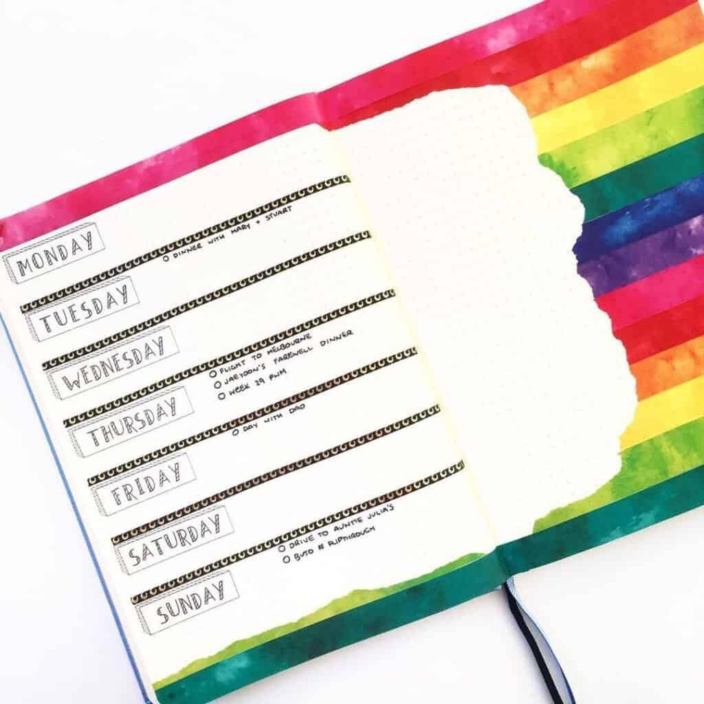 Cum să integrezi culorile curcubeului în bullet journal (+20 de idei care să te inspire)