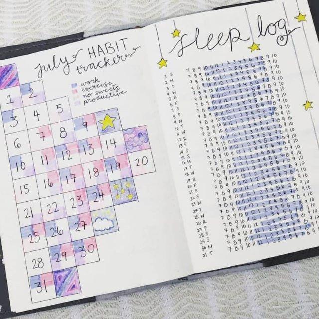 Ce este un sleep tracker pentru bullet journal (+12 idei care să te inspire)